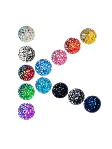 Multicolor Resin Star Round Tree Charm Diameter : 11.8 mm