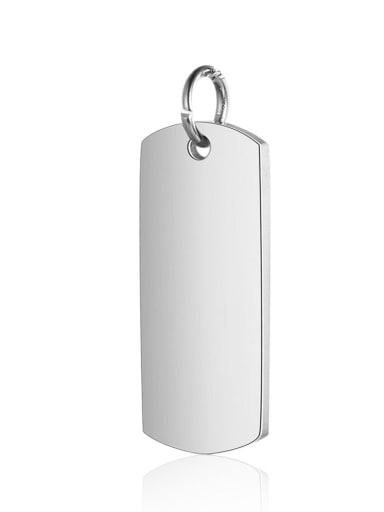 XT631 1 Stainless steel Charm Height : 8mm , Width: 23.5 mm