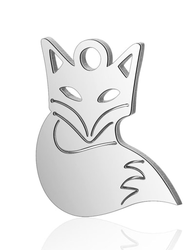 Stainless steel Fox Charm Height : 12 mm , Width: 14 mm