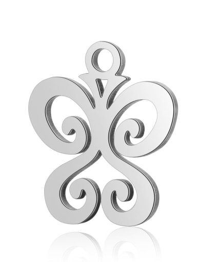Stainless steel Butterfly Charm Height : 11.7mm , Width: 13.8 mm
