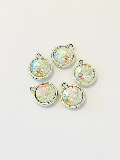 1 Zinc Alloy Multicolor Key Charm Diameter : 12mm
