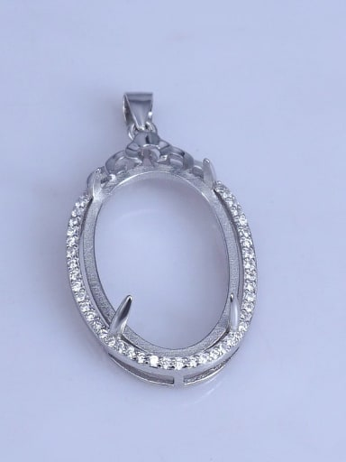 925 Sterling Silver Pendant Setting Stone size: 18*25mm