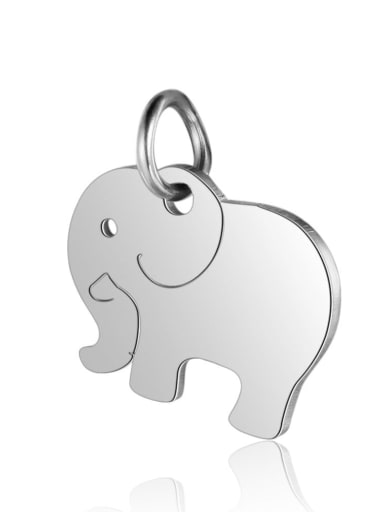 T463S Stainless steel Elephant Charm Height : 14 mm , Width: 16 mm