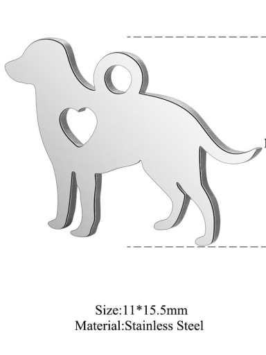 Stainless steel Heart God Charm Height : 15.5 mm , Width: 11 mm