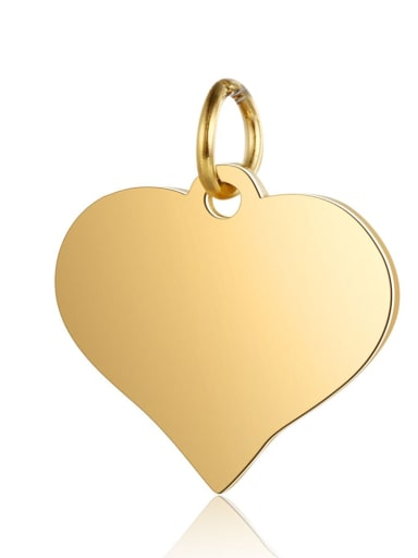 XT629 2 Stainless steel Heart Charm Height : 15 mm , Width: 17 mm