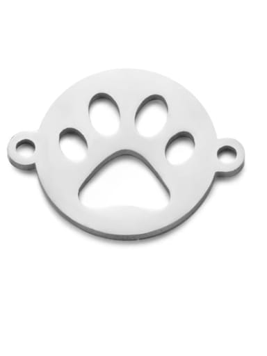 Stainless steel Face Charm Height : 12 mm , Width: 15.5 mm