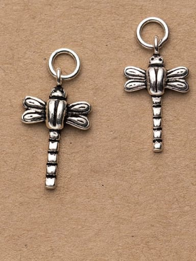 925 Sterling Silver Dragonfly Charm Height : 21 mm , Width: 12 mm