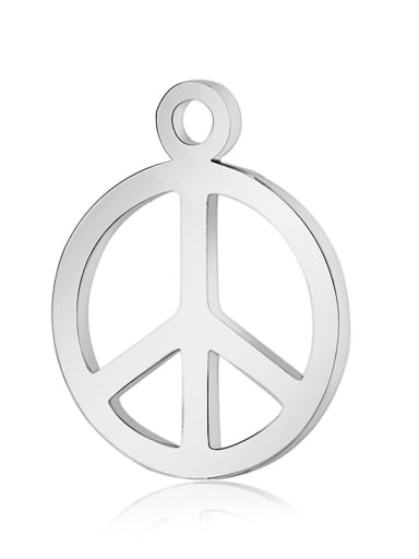 Stainless steel Round Charm Height : 14 mm , Width: 12 mm