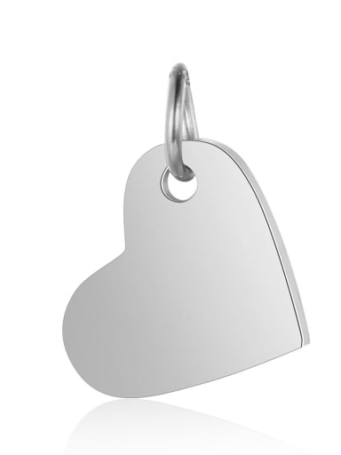 Stainless steel Heart Charm Height :10.5mm , Width: 14 mm