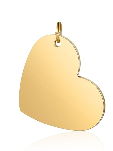 XT619 2 Stainless steel Heart Charm Height : 20mm , Width: 26mm