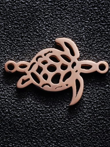 Rose Gold Stainless steel Turtle Charm Height : 16.83 mm , Width: 25.2 mm