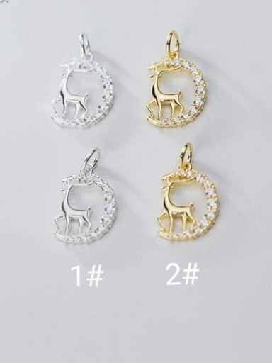 925 Sterling Silver deer Charm Height : 15 mm , Width: 11 mm