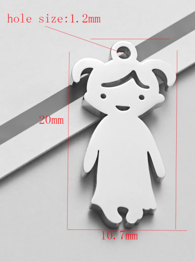 girl Stainless steel Charm