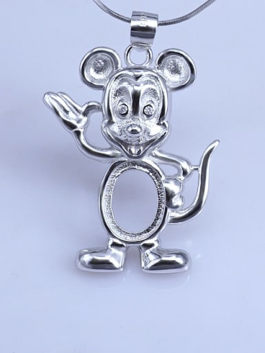 Mouse (8*10) 925 Sterling Silver Zodiac Pendant Setting Stone size: 8*10 9*11 10*14mm