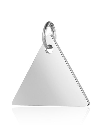 XT631 1 Stainless steel Square Charm Height : 15 mm , Width: 15.5 mm