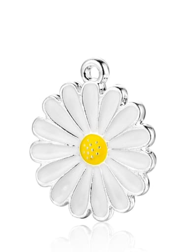 Stainless steel Flower Charm Height : 21 mm , Width: 18 mm