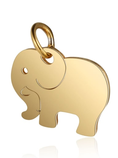 T463G Stainless steel Elephant Charm Height : 14 mm , Width: 16 mm