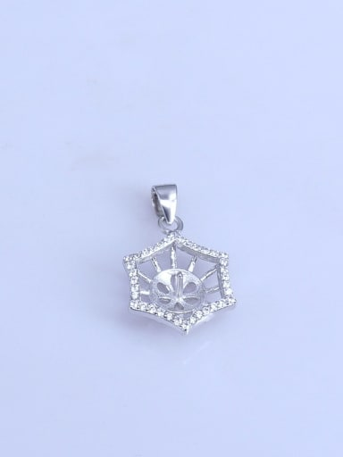 925 Sterling Silver Rhodiom plated Geometric Pendant Setting Stone size: 7*10mm