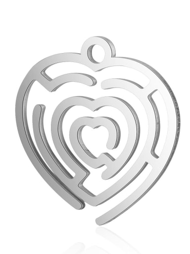 Stainless steel Heart Charm Height : 17 mm , Width: 18 mm