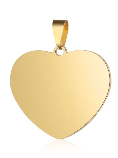 35*39mm Stainless steel Heart Charm