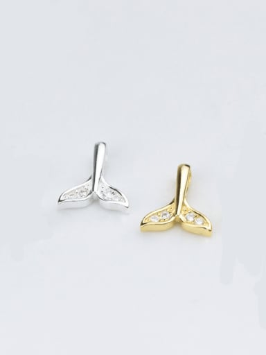925 sterling silver dolphin charm 10 * 8.5 mm