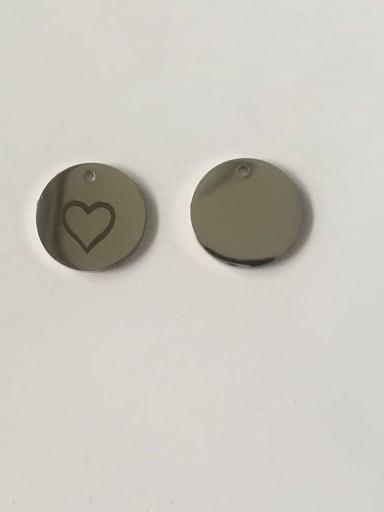 Stainless steel Heart Charm Diameter : 15 mm