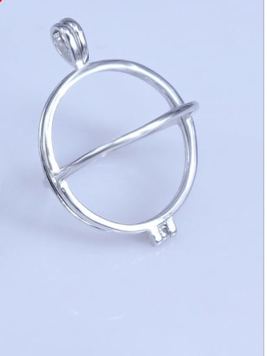 GP1 (12mm ID) 925 Sterling Silver 18K White Gold Plated Ball Pendant Setting Stone diameter: 12,19mm