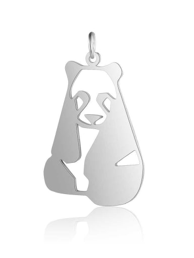 JA127 1x5 Stainless steel Gold Plated Panda Charm Height : 20 mm , Width: 32 mm