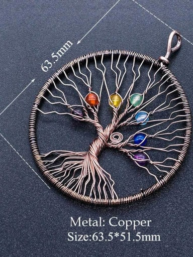 2 Stainless steel Tree Round Charm Height : 63.5 mm , Width: 51.5 mm