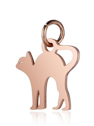 T465R Stainless steel Cat Charm Height : 12 mm , Width: 16 mm