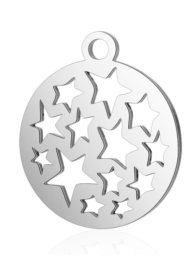 Stainless steel Star Charm Height : 12 mm , Width: 14 mm