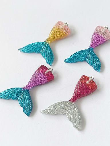 Multicolor Resin Fish Charm Height : 2.3cm , Width: 3.05cm