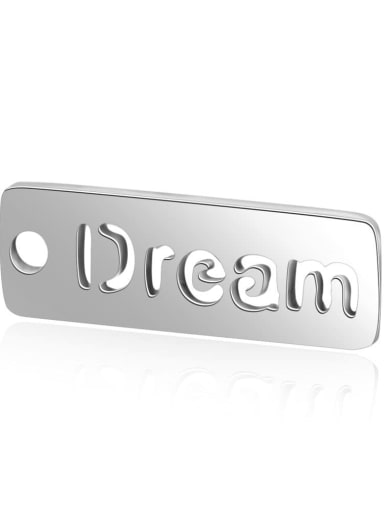 Stainless steel Letter Charm Height : 17 mm , Width: 6 mm