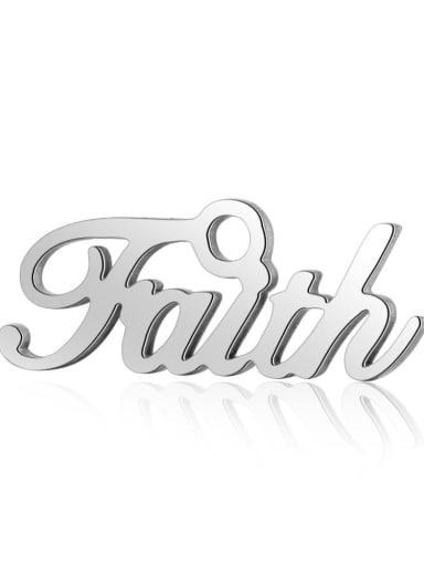 Stainless steel Message Charm Height : 16  mm , Width: 6.3 mm