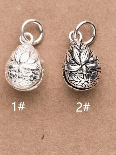 925 Sterling Silver Bell Charm Height : 15 mm , Width: 9 mm