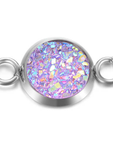 8 Multicolor Resin Round Charm Diameter : 8mm