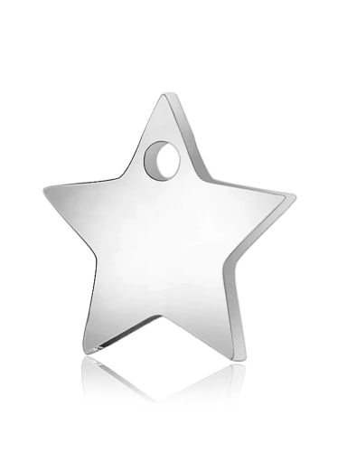 Stainless steel Star Charm Height : 11.1 mm , Width: 11.6 mm
