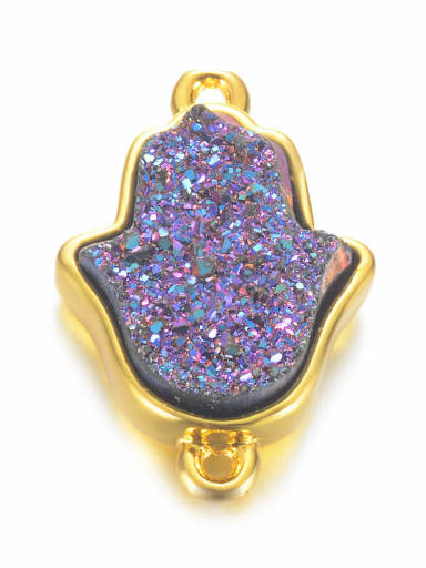 Mysterious purple Multicolor Crystal Charm Height : 19 mm , Width: 12.5 mm