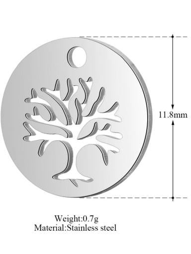 XT187 Stainless steel Tree Charm Diameter : 15.7mm