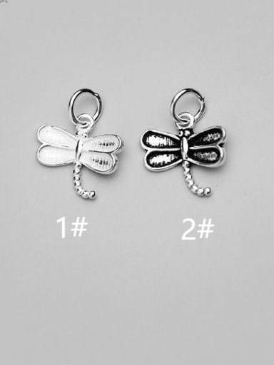 925 Sterling Silver Dragonfly Charm Height : 14 mm , Width: 13 mm