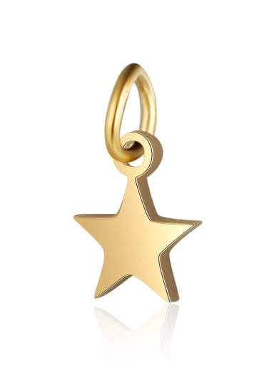 6 *10 Stainless steel Star Charm