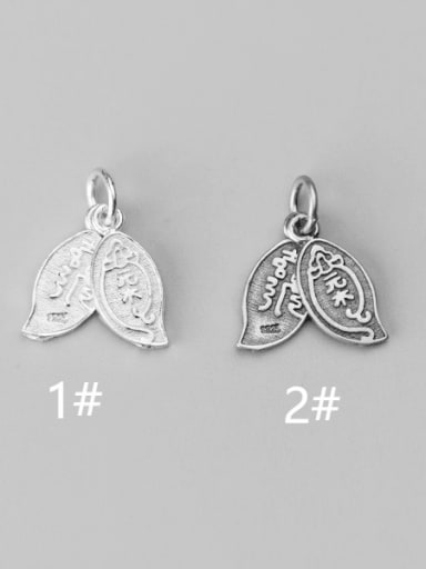 925 Sterling Silver tree Charm Height : 16 mm , Width: 7 mm