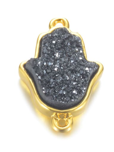 Quicksand black Multicolor Crystal Charm Height : 19 mm , Width: 12.5 mm