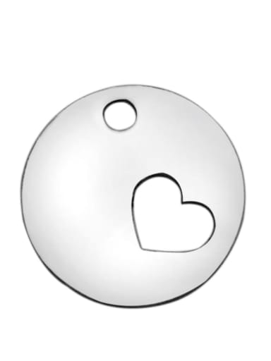 Stainless steel Heart Charm Height : 11.8 mm , Width: 11.8 mm