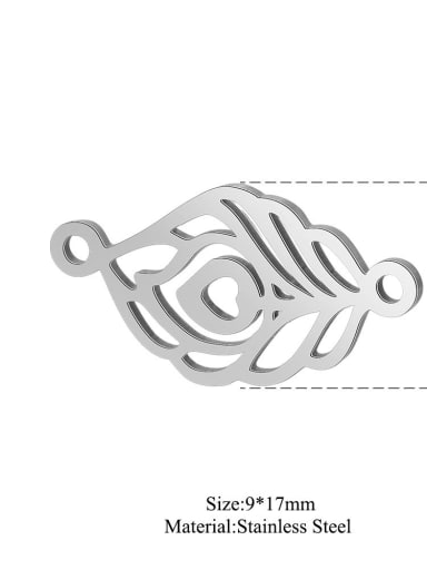 XT536S Stainless steel Feather Charm Height : 9 mm , Width: 17 mm