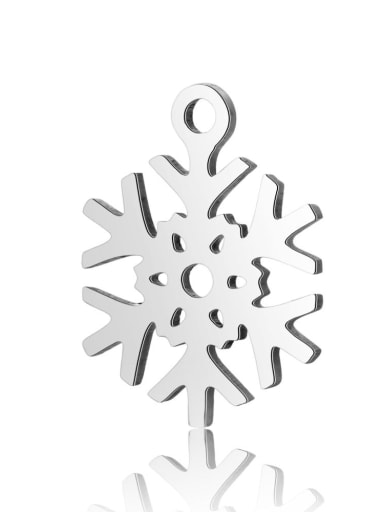 Stainless steel snowflake Charm Height : 11.7 mm , Width: 15.4 mm