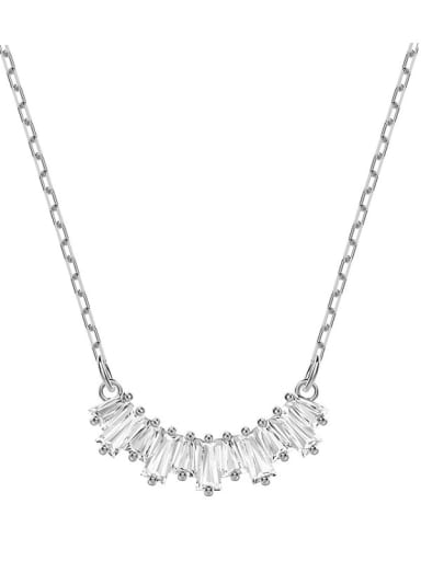 Alloy Swarovski Crystal White Dainty Necklace