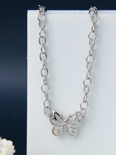 925 Sterling Silver Butterfly Choker Necklace
