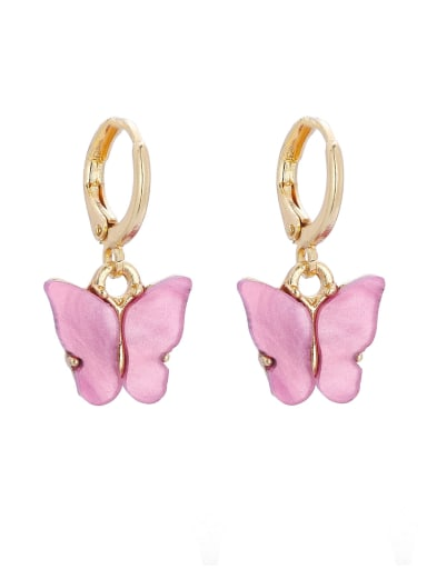 Alloy Acrylic Butterfly Trend Drop 2.5cm  *1.3cm Earring