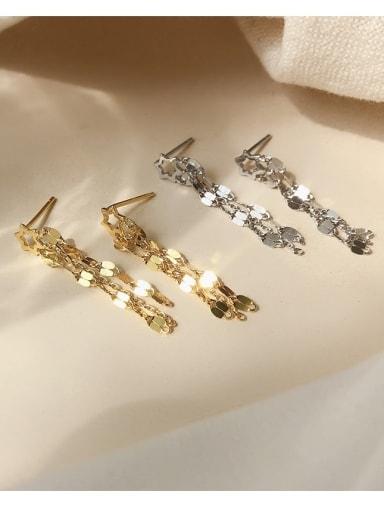 925 Sterling Silver Tassel Statement Drop Earring
